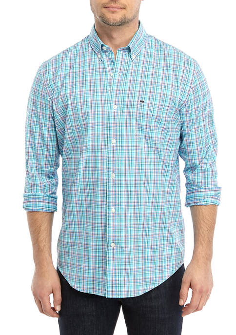 Crown & Ivy™ Mens Plaid Woven Button Down