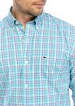 Mens Plaid Woven Button Down Shirt