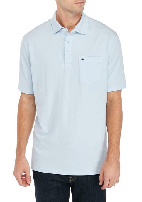 Crown & Ivy™ Mens Jersey Stripe Polo Shirt