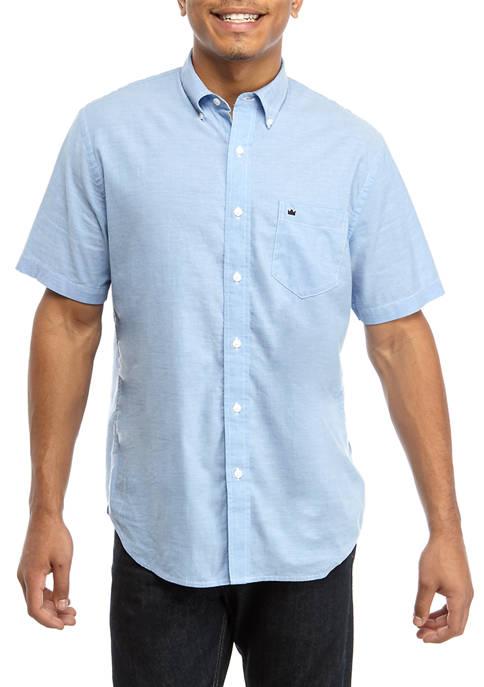 Crown & Ivy™ Mens Short Sleeve Woven Shirt