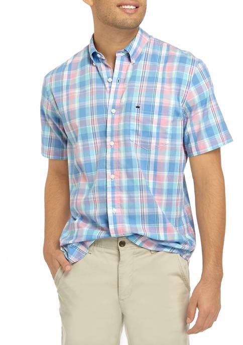 Crown & Ivy™ Mens Short Sleeve Madras Plaid