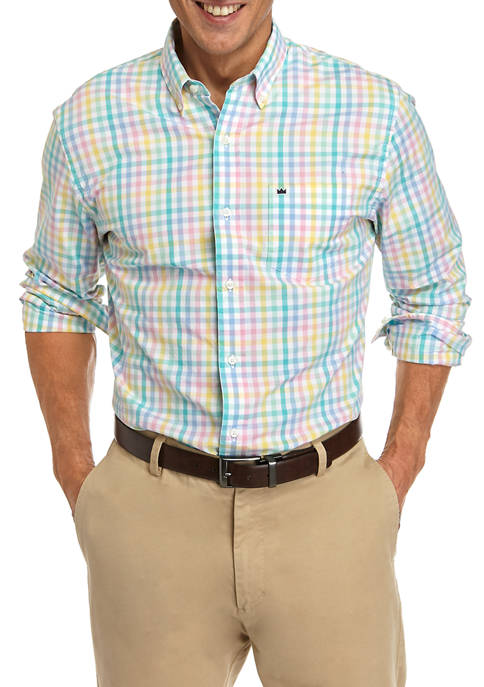 Crown & Ivy™ Mens Poplin Long Sleeve Shirt