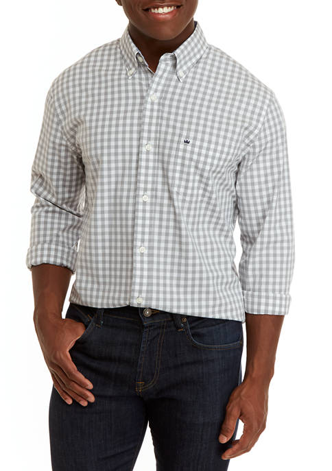 Crown & Ivy™ Mens Long Sleeve Icon Gingham