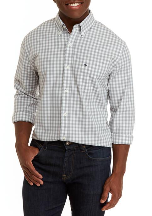 Mens Long Sleeve Icon Gingham Woven Shirt