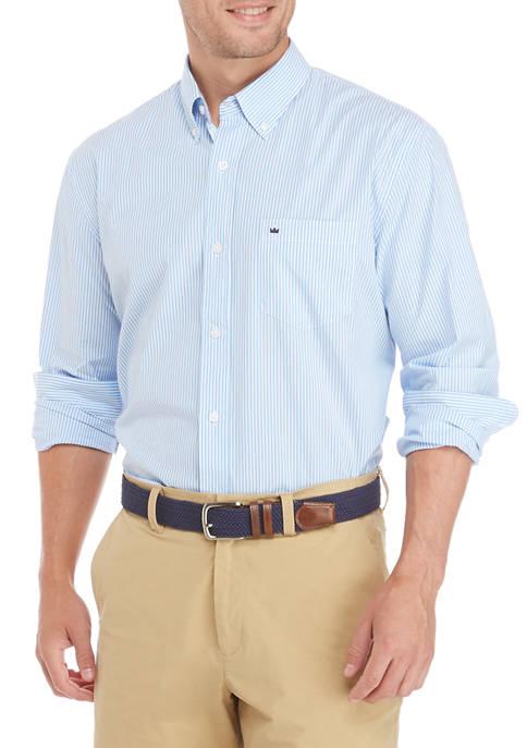 Mens Stripe Button-Down Shirt