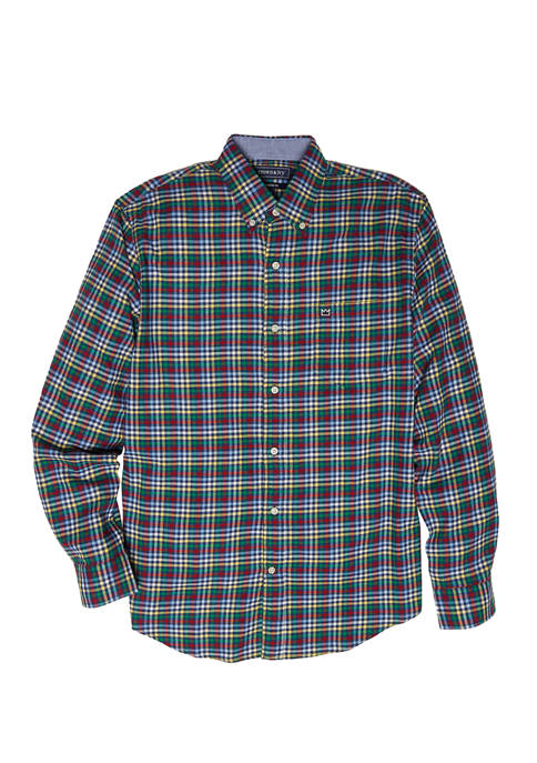 Crown & Ivy™ Long Sleeve Flannel Woven Shirt