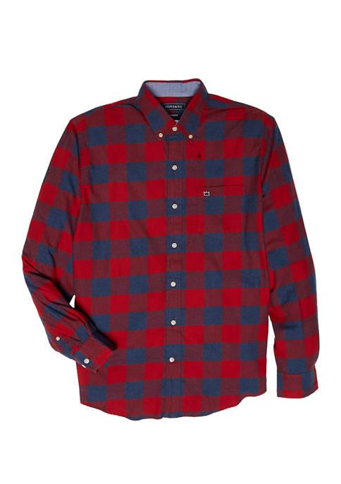 Long Sleeve Flannel Woven Shirt