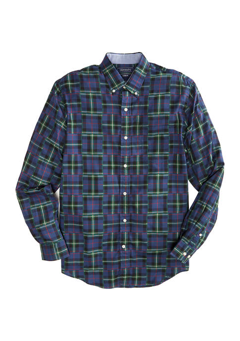 Crown & Ivy™ Long Sleeve Patchwork Woven Shirt