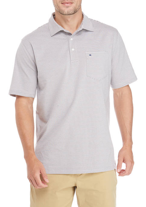 Crown & Ivy™ Short Sleeve Jersey Stripe Polo