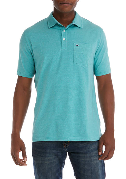 Crown & Ivy™ Short Sleeve Jersey Stripe Polo