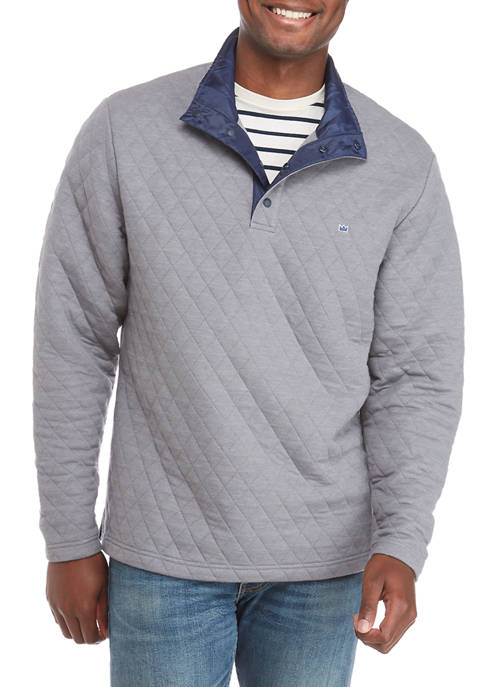 Mens Quilted Pullover