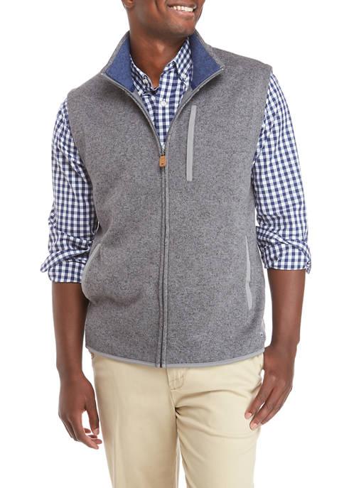 Crown & Ivy™ Mens Sweater Fleece Vest
