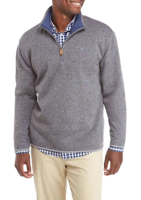 Crown & Ivy™ Mens Sweater Fleece Quarter Zip