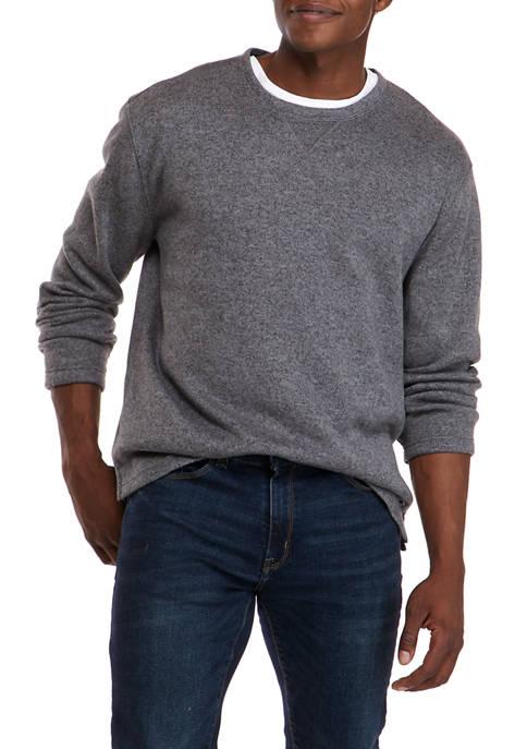 Crown & Ivy™ Fleece Crew Neck Sweater