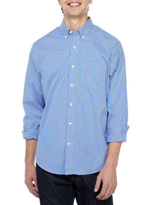 Crown & Ivy™ Long Sleeve Button Down Woven