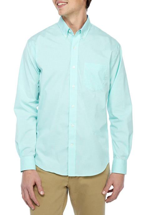 Long Sleeve Button Down Woven Shirt