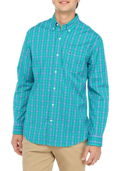 Crown & Ivy™ Long Sleeve Plaid Poplin Shirt