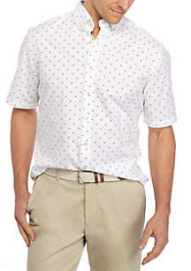 Big & Tall Short Sleeve Poplin Shirt