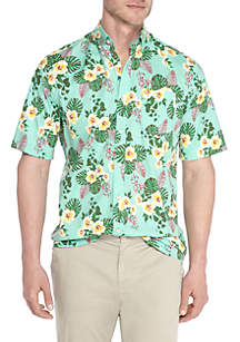 Big & Tall Motion Flex Floral Print Shirt