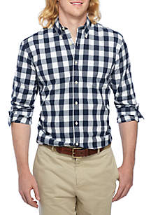 Big & Tall Poplin Plaid Classic Shirt