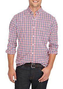 Big & Tall Poplin Plaid Classic Shirt