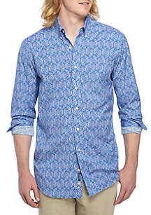 Big and Tall Long Sleeve Motion Flex Poplin Shirt Classic Fit