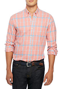 Big & Tall Long Sleeve Brushed Plaid Shirt