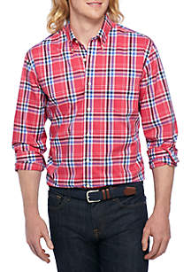 Big & Tall Non-Iron Plaid Button Down
