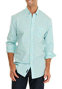 Crown & Ivy™ Big & Tall Motion Flex Classic Fit No Iron Button Down Shirt