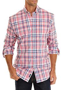 5a1d5a3265eb1 ... Plaid Stretch Sport Coat · Crown   Ivy™ Big   Tall Motion Flex Classic  Fit No Iron Button Down Shirt