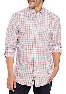 cf2277ffac449 ... Crown   Ivy™ Big   Tall Motion Flex Classic Fit No Iron Button Down  Shirt