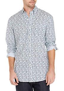 Crown & Ivy™ Big & Tall Long Sleeve No Iron Button Down Shirt