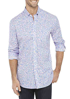 57a161fa7ea Crown   Ivy™ Big   Tall Long Sleeve No Iron Button Down Shirt ...