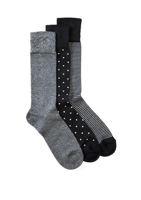 Set of 3 Printed Dress Socks