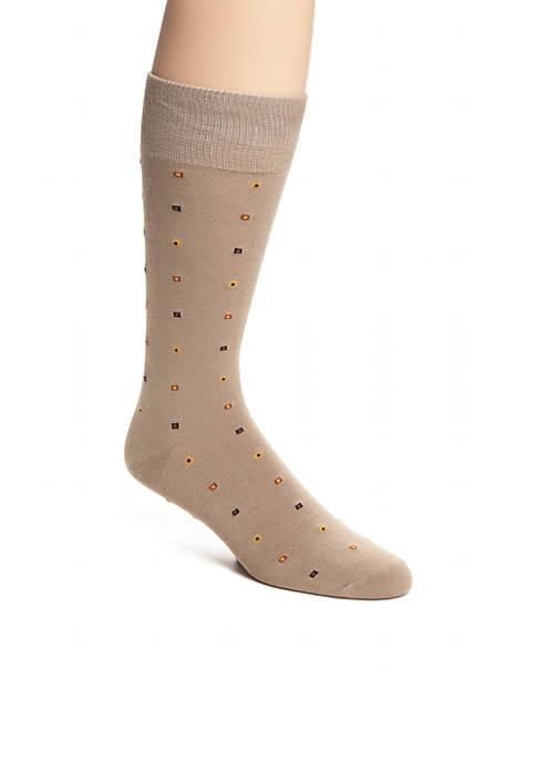 Saddlebred® Mercerized Cotton Boxed Dot Neat Crew Socks