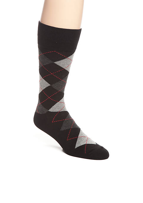 Saddlebred® Argyle Crew Socks