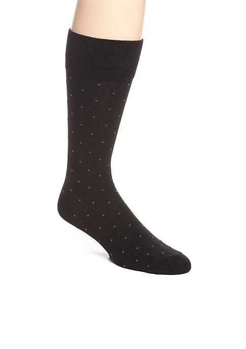 Dot Pattern Crew Socks - Single Pair