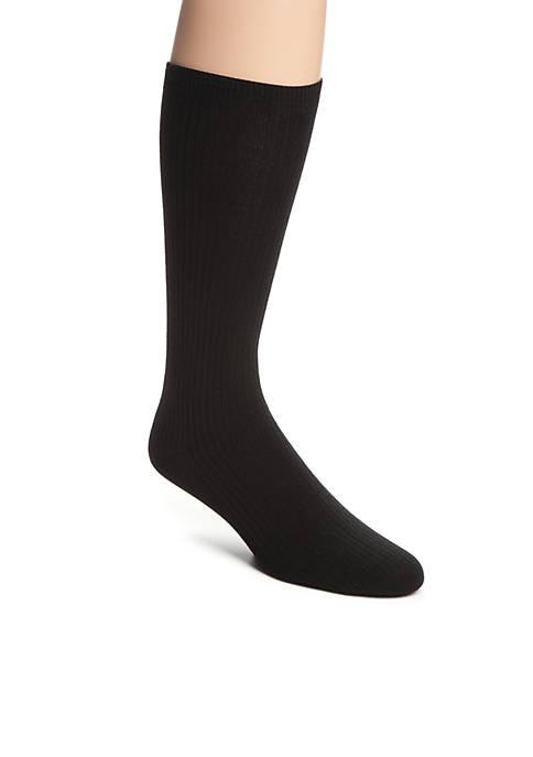 Soft Touch Rib Crew Socks - Single Pair