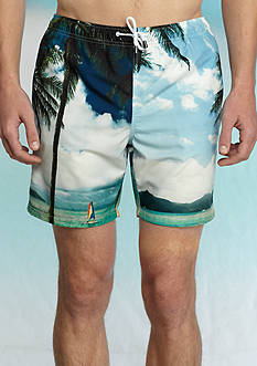 Crown & Ivy™ Photo Real Swim Trunks