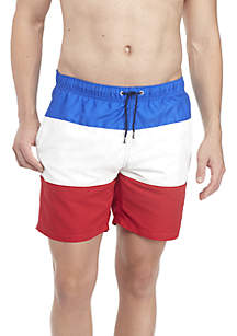 Tri Panel Swim Trunks