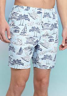 Scenic Print Swim Shorts