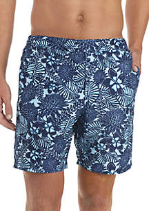 Tropical Floral Swim Board Shorts