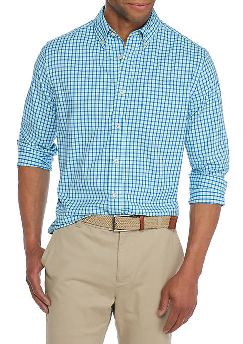 Crown & Ivy™ Long Sleeve Performance Gingham Shirt