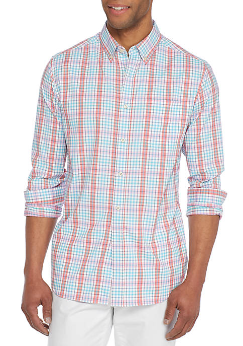 Crown & Ivy™ Long Sleeve Performance Plaid Shirt