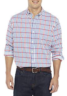 Crown & Ivy™ Long Sleeve Performance Plaid Button Down Shirt