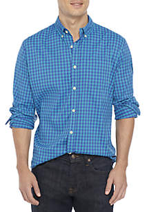 Long Sleeve Performance Plaid Button Down Shirt
