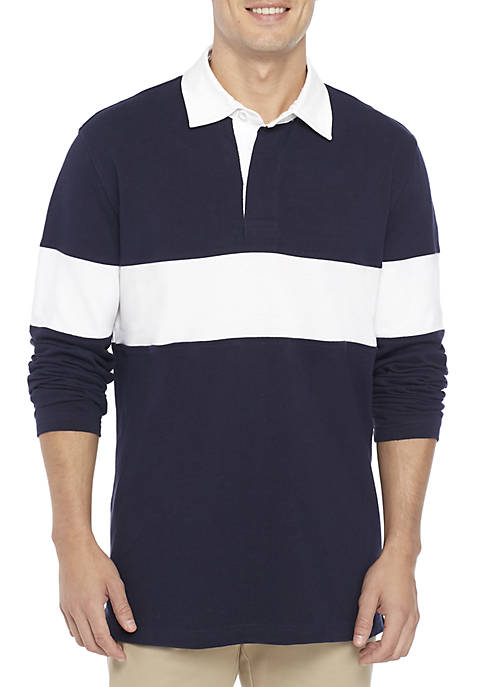 Long Sleeve Rugby Stripe Shirt