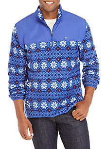 Fleece Fair Isle Quarter Zip Jacket