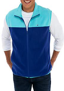 Colorblock Fleece Vest