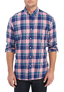 Long Sleeve Plaid Flannel Shirt